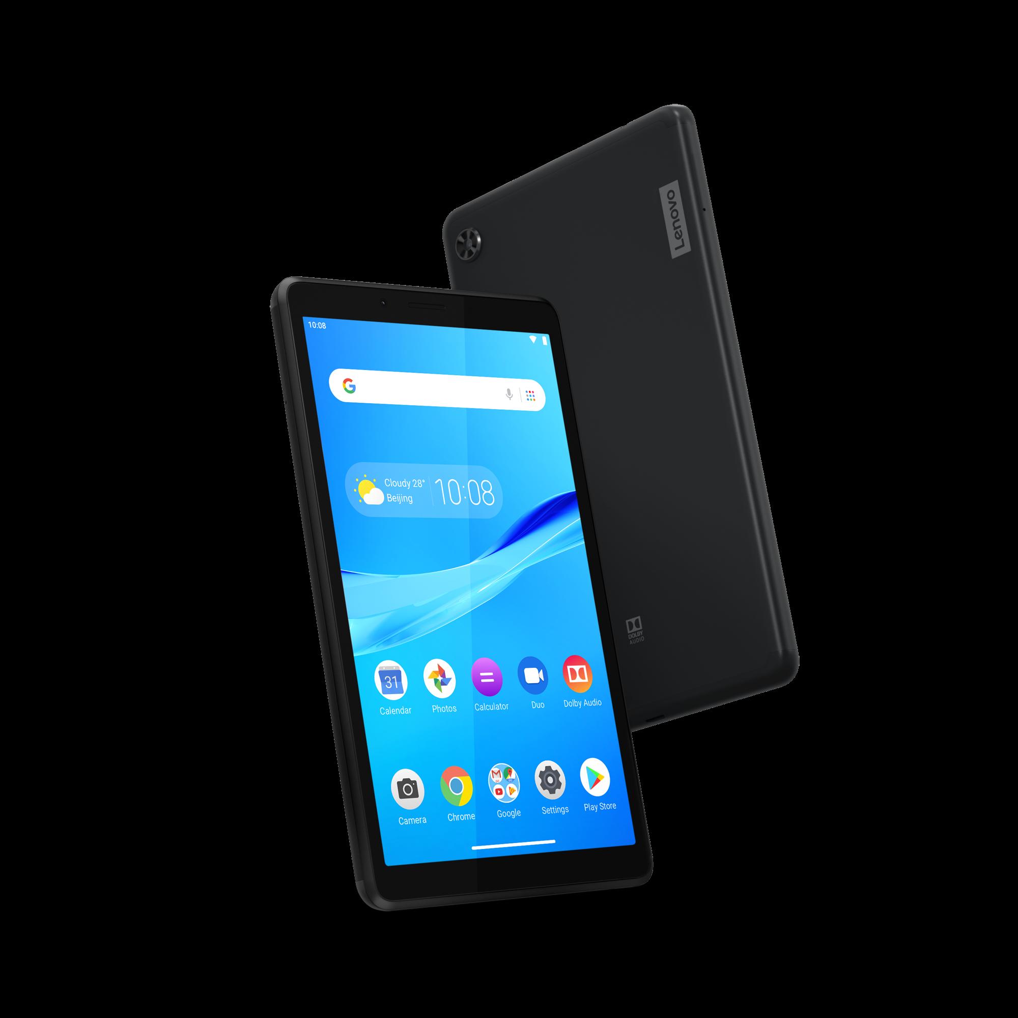 Lenovo Tab M7 tabletti edestä ja takaa