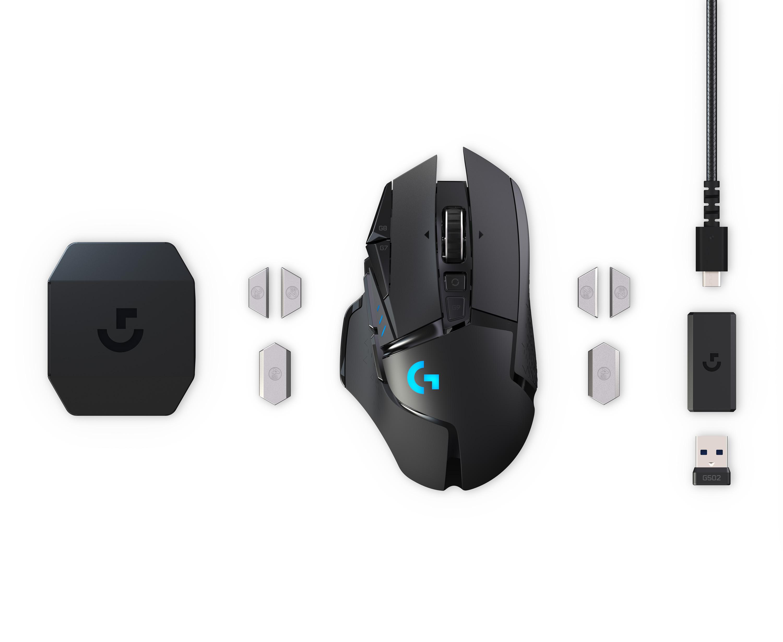 Logitech G502 Lightspeed hiiren sisältö