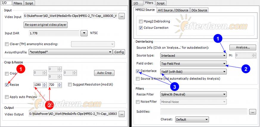 MeGUI AVS Script Creator bobbing (bob deinterlacing) - AfterDawn.com