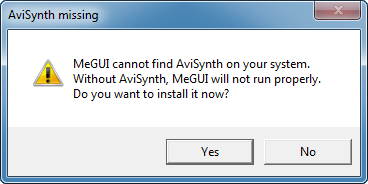 MeGUI checks for AviSynth - AfterDawn.com