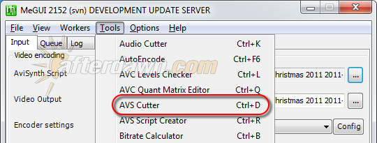 Open MeGUI's AVS Cutter - AfterDawn.com