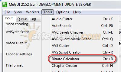 Starting the MeGUI Bitrate Calculator - AfterDawn.com
