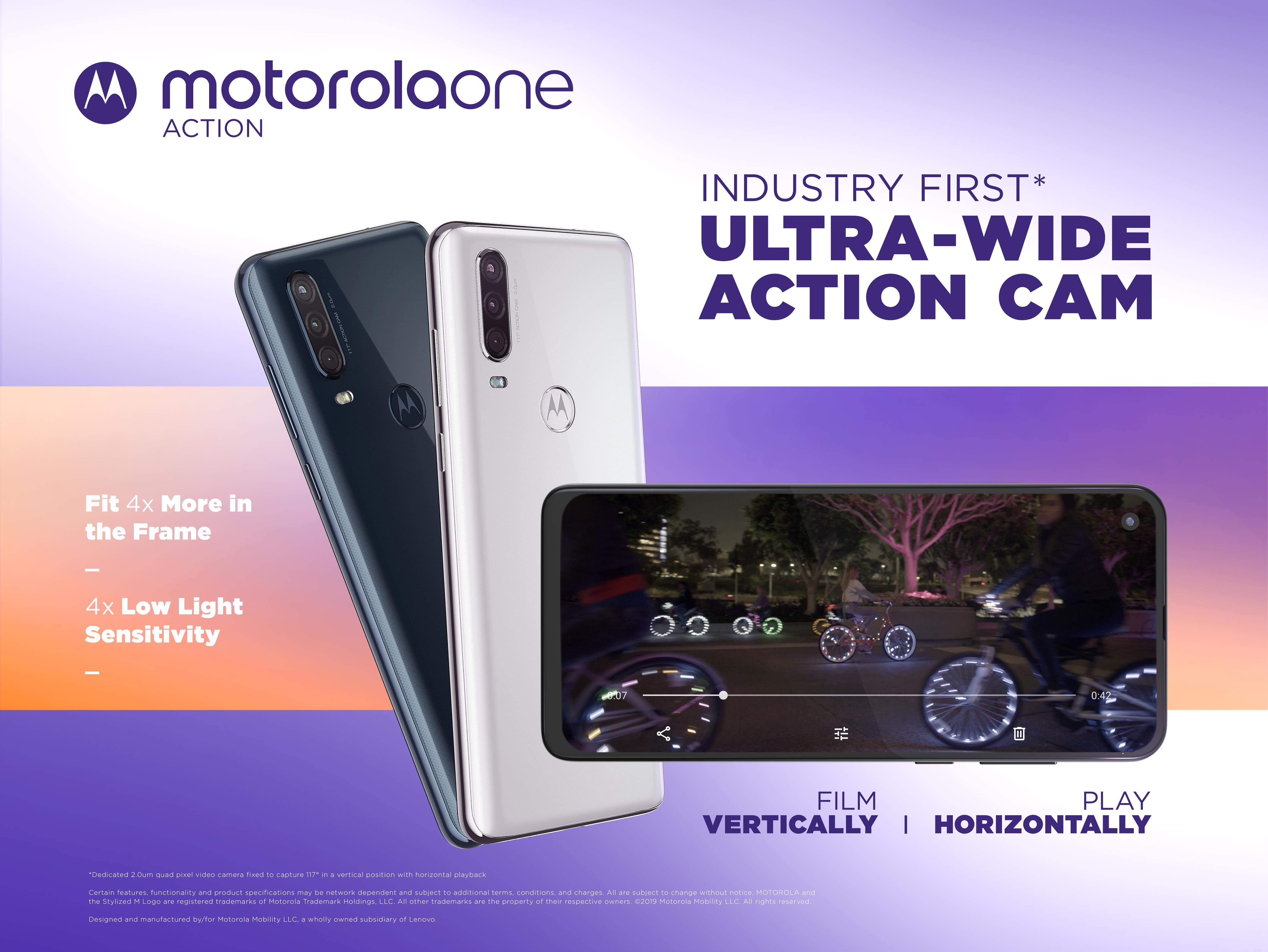 Motorola One Action videokameran tiedot