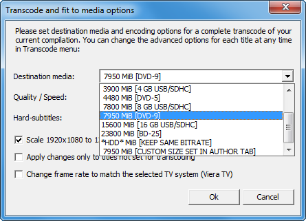 MultiAVCHD - Fit to media dialog