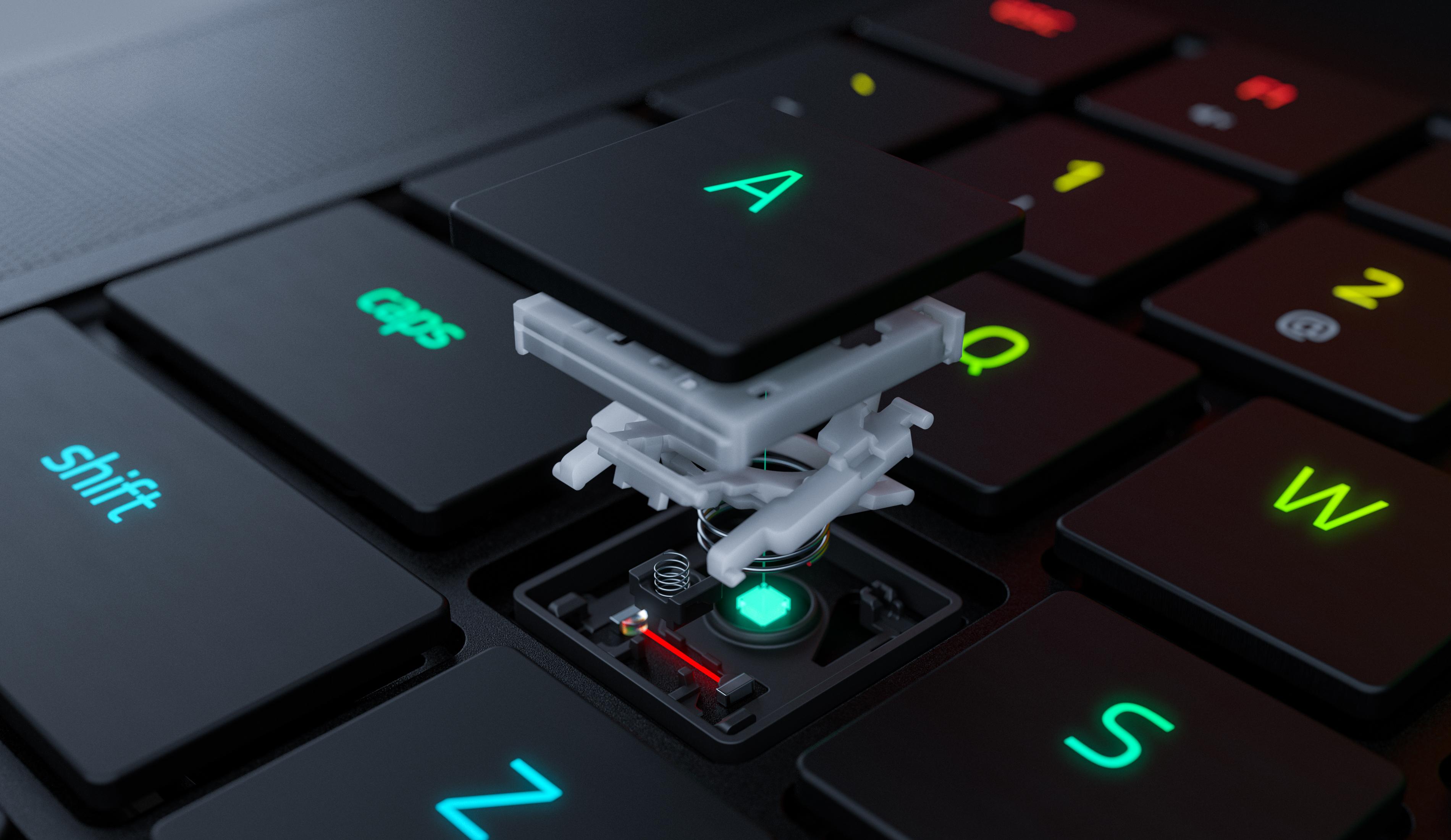 Razerin optiset kytkimet kannettavan tietokoneen näppäimistössä ovat ensimmäistä laatuaan maailmassa