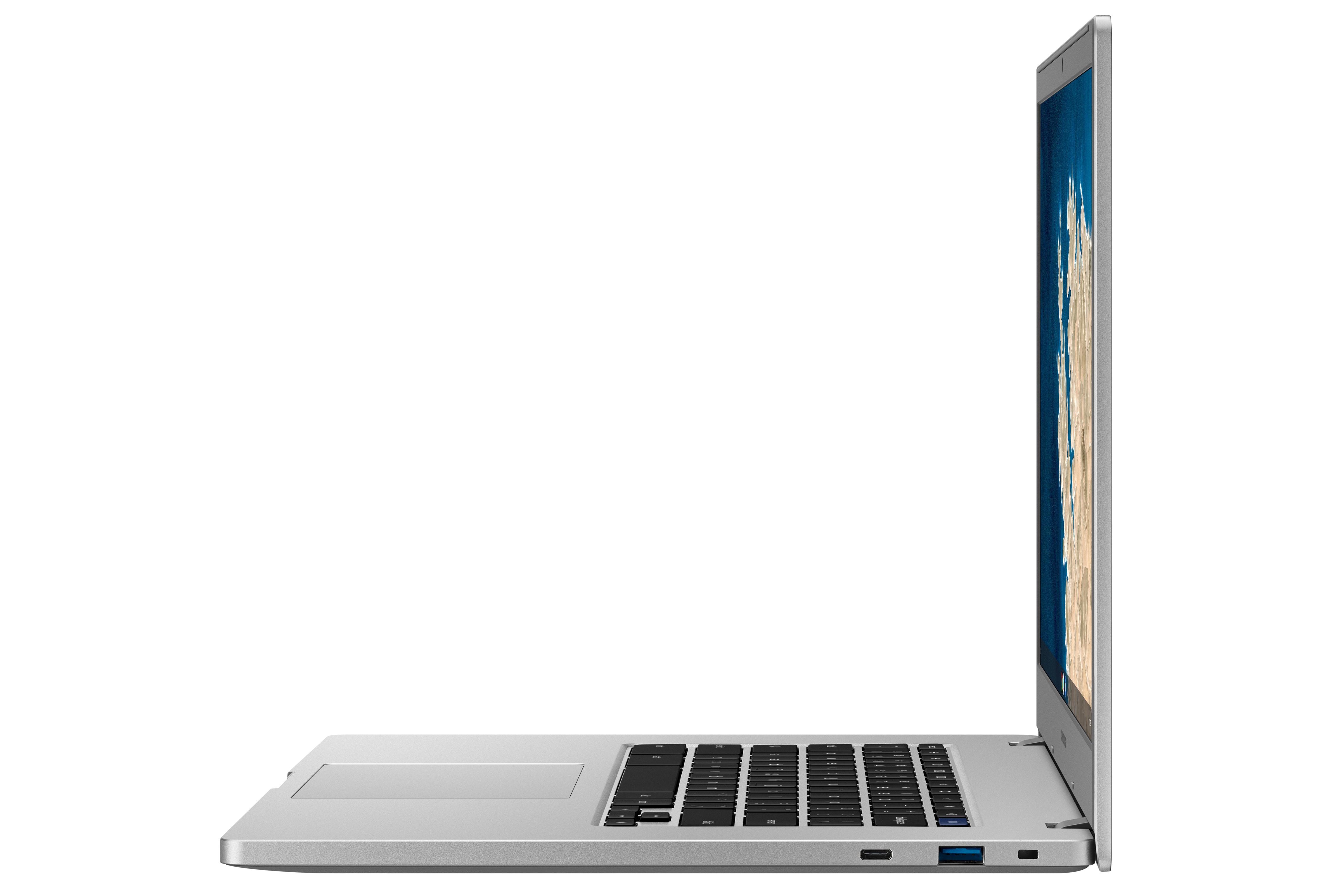 Samsung Chromebook 4 sisältää usb c ja usb a liitännät
