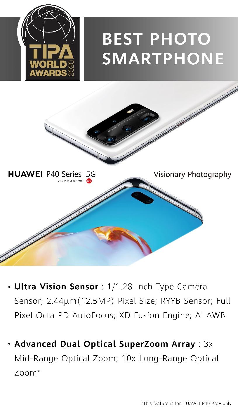 Huawei P40 sarja voitti tipa-palkinnon