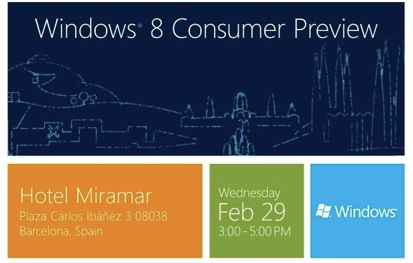 Windows 8 Consumer Preview event invitation found on BetaNews -  AfterDawn.com