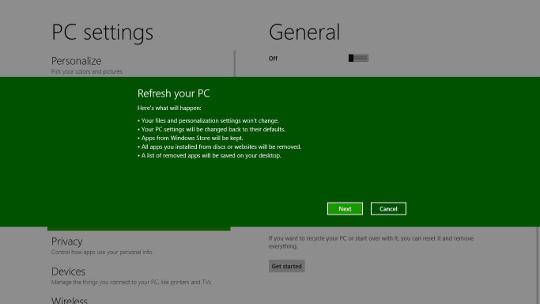 Windows 8 Refresh interface - AfterDawn.com