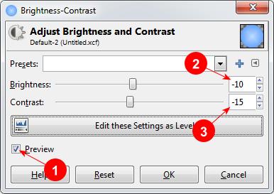 Brightness-Contrast dialog in GIMP - AfterDawn.com