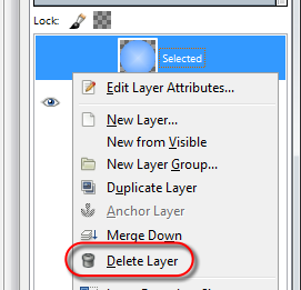 Delete layer in GIMP - AfterDawn.com