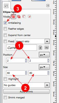 GIMP Ellipse Select Tool options - AfterDawn.com