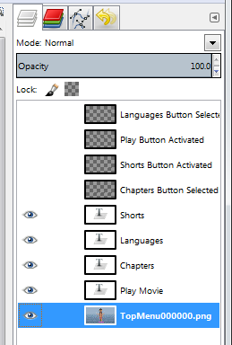Hide button layers before exporting menu background - AfterDawn.com