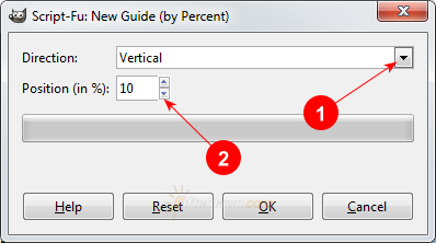 GIMP New Guide by Percent dialog - AfterDawn.com