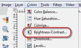 Open GIMP's Brightness- Contrast tool - AfterDawn.com
