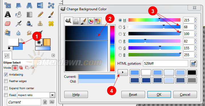 Picking a background color in GIMP - AfterDawn.com