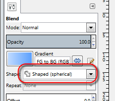 Spherical gradient setting in GIMP - AfterDawn.com