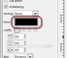 GIMP text tool color - AfterDawn.com