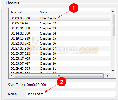 Name chapters in MeGUI Chapter Creator - AfterDawn.com