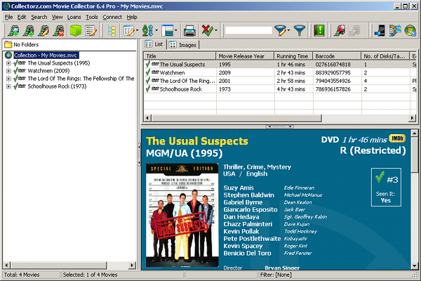 Catalog your movies - 5 programs compared - AfterDawn