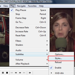 Finding and adding subtitles through Media Player Classic