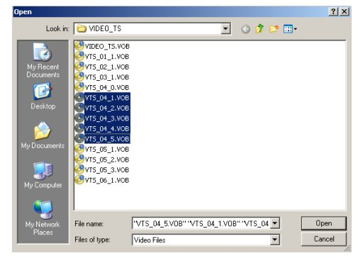 how to convert vts files to dvd