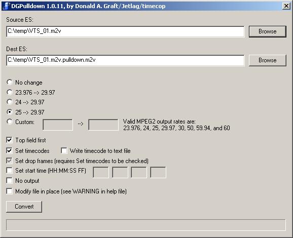 Convert PAL Video to NTSC (page 5/5): MPEG-2 PAL to NTSC using ...
