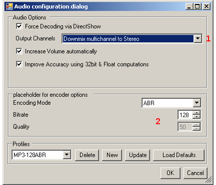 DVD to AVC with MeGUI Part 3 (page 3/5): Audio Encoding