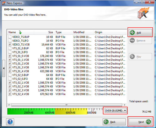 burning pre authored dvd video using nero page 3 3 using nero rh afterdawn com Nero 7 Premium Nero Vision