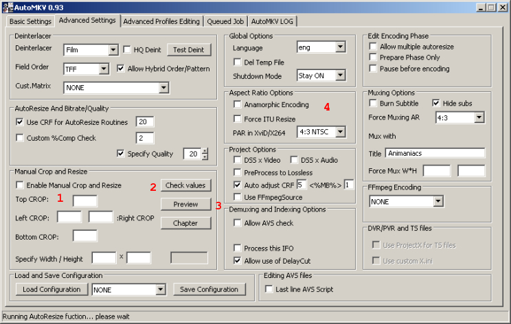 Encoding From DVD to AVC with AutoMKV (page 4/5): Cropping