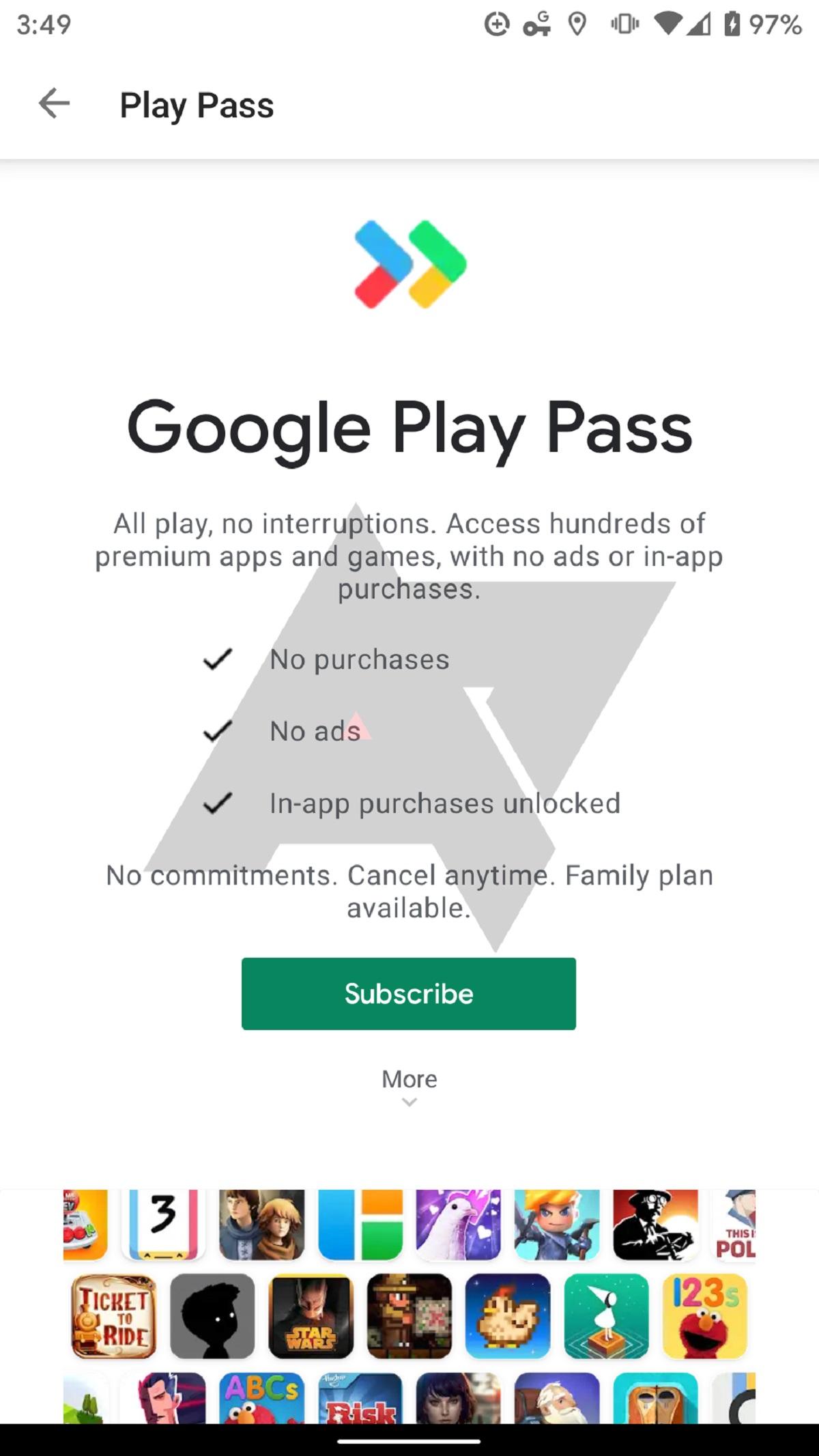 Android Policen mukaan Google testaa maksullista Play Pass palvelua
