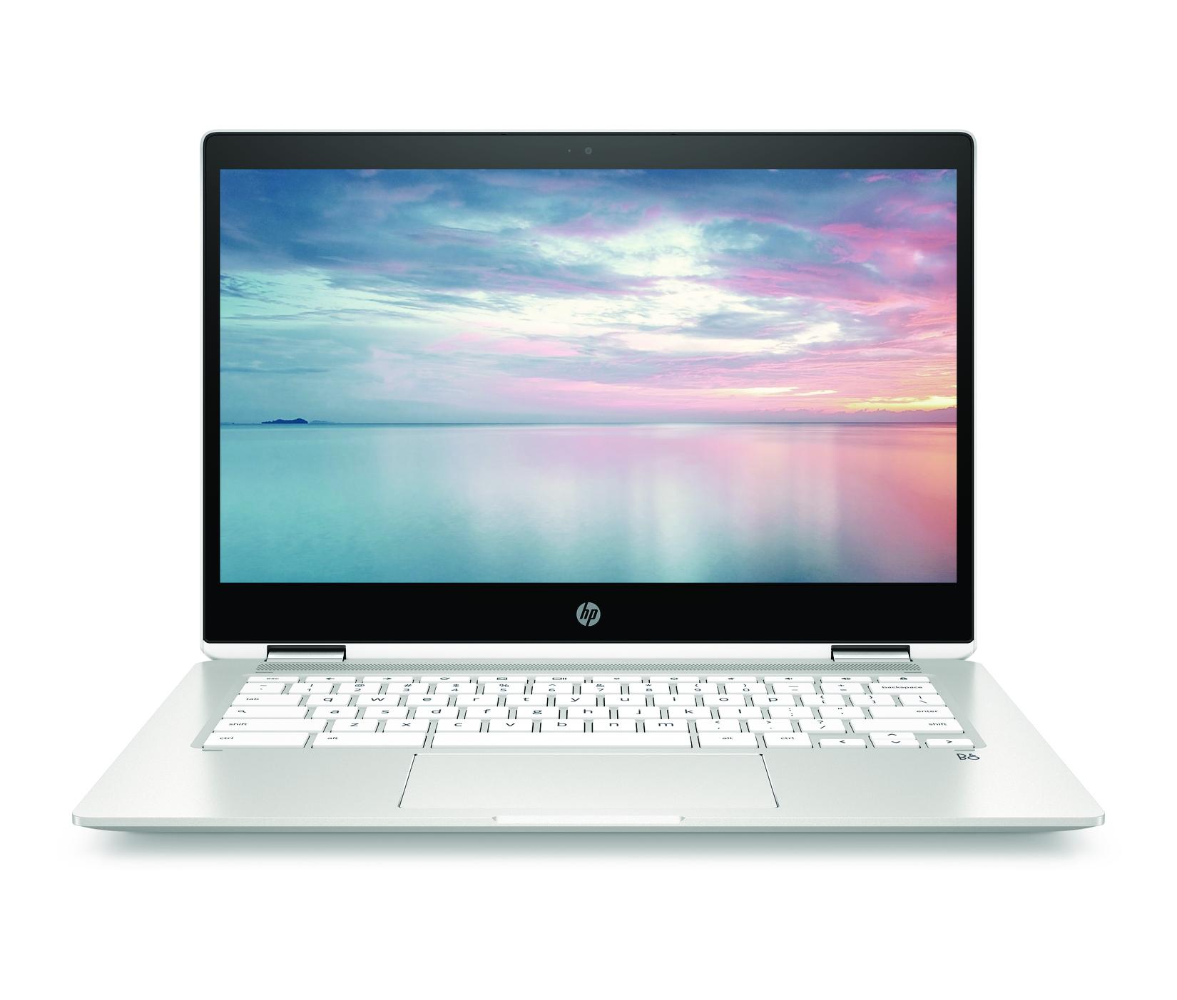 HP Chromebook x360 14b näyttö on kooltaa 14 tuumaa
