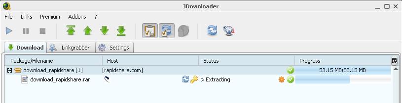Using JDownloader with Rapidshare, Hotfile, Megaupload