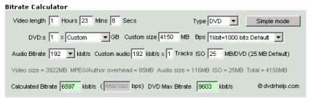 Basic DVD Authoring Project Part 5 - Calculate Video Bitrates (page