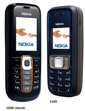 Nokia 2600 classic ja 1209