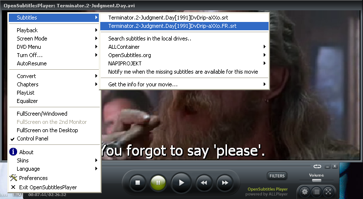 Retrieve and use Subtitles easily with Open Subtitles MKV