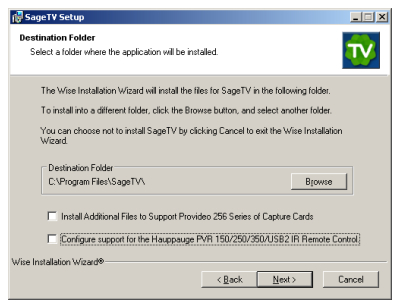Running SageTV on Windows XP Media Center Edition (page 3/4