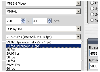 TMPGEnc 4 - MPEG-2 and MPEG-1 Video Settings (page 3/8): Video Tab