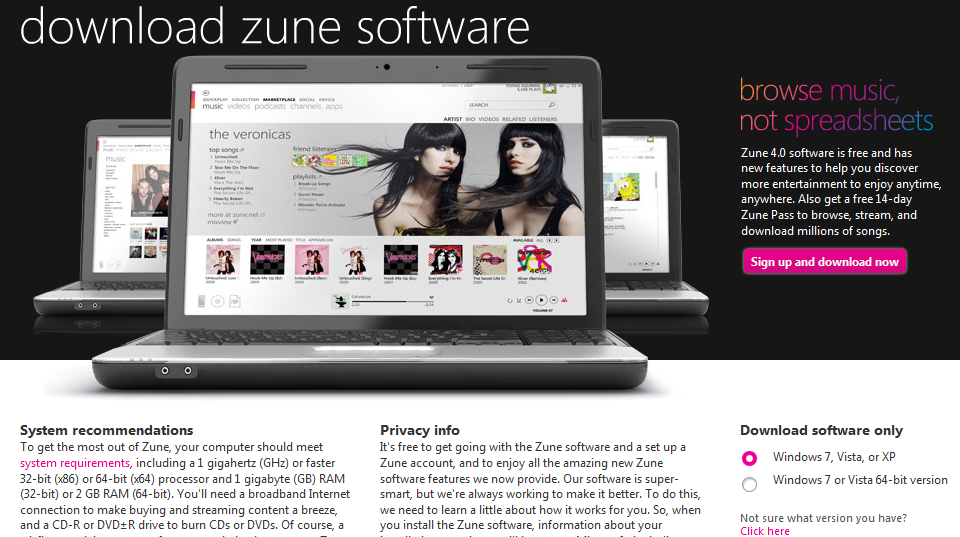 download zune software for windows