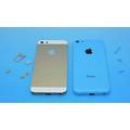 Apples iPhone 5C og iPhone 5S afbildet på samme foto