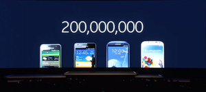 Samsung hits 200 million units sold milestone for Galaxy S smartphones