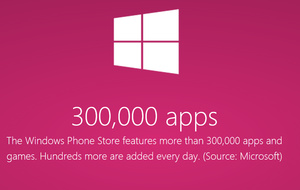 Windows Phone Store now with over 300,000 apps