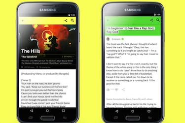 Musiikkikappaleiden sanoitusten merkityksiä avaava Genius julkaisi uuden mobiilisovelluksen