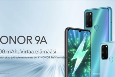 149 euron Honor 9A saapuu myyntiin Suomessa 15. heinäkuuta - Honor Band 5 aktiivisuusranneke kaupan päälle