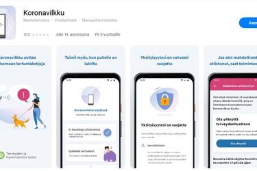 Koronavilkku-sovellus on nyt ladattavissa Huawein AppGallery -sovelluskaupasta