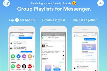 Näin teet Spotify-soittolistan kavereiden kanssa Facebook Messengerissä