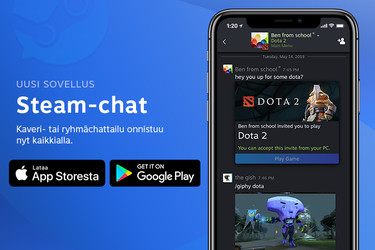 Steam Chat julkaistiin Androidille ja iPhonelle