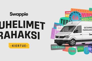 Swappien pakettiauto kiertää elokuussa ympäri Suomen ja ostaa käytettyjä puhelimia