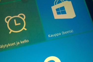 Esittelyssä Windows 10: sovelluskauppa