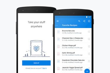 Dropbox Androidille uudistui täysin